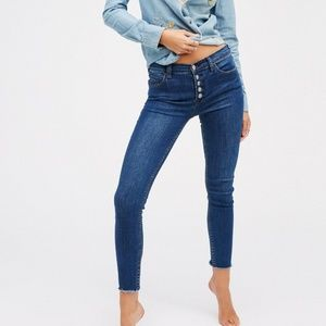 Free People Reagen High Rise Skinny Jeans